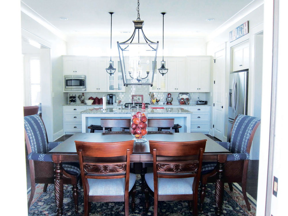 The Kitchen And Dining Room Pictured Are In The Home