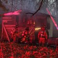 A shed fire on Aetna Street.