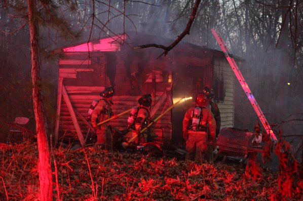 A shed fire on Aetna ...