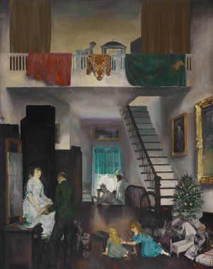 George Wesley Bellows' 1919 work The Studio is one of three pieces on loan to the Metropolitan Museum of Art in New York from Crystal Bridges Museum of American Art in Bentonville.