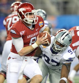 Tyler Wilson led the Razorbacks to a Cotton Bowl win over Kansas State in January - their 21st in five years - but the team has fallen on hard times since.