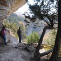 Carol and Roger Byrd of Siloam Springs hike the Goat Trail. The path meanaders along Big Bluff, one ...