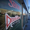 The old Dixieland shoe store on the corner of Walnut and 1st street in Rogers Wednesday morning.  Jo...