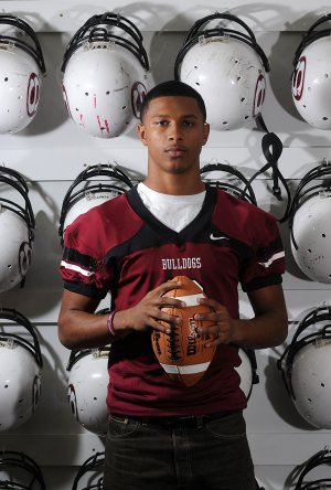 Deandre Murray, 17, running back for Springdale High, has been shown interest by several Division I schools.