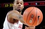 Rickey Scott and the Razorbacks will play the first of two games in Las Vegas on Friday.