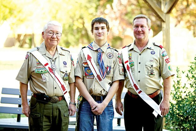 chris-wilson-17-center-of-conway-was-honored-as-an-eagle-scout-this-month-in-a-court-of-honor-ceremony-at-the-faulkner-county-library-joining-his-grandfather-dr-joe-t-wilson-jr-of-jonesboro-and-father-russell-wilson-of-conway-eagle-scout-is-the-highest-rank-attainable-in-boy-scouting-and-requirements-include-earning-at-least-21-merit-badges-and-demonstrating-scout-spirit-through-service-and-leadership-including-completing-a-major-project