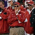NWA Media/JASON IVESTER -- Arkansas head coach John L. Smith watches from the sideline during the fo...