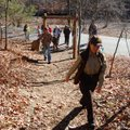 Rebekah Penny, an interpreter at Devil's Den State Park in southern Washington County, leads a hike ...