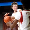 Sarah Watkins, pictured in an earlier game, scored 25 points on Saturday.