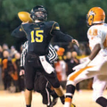 Cooper Winters, Prairie Grove quarterback, throws Friday during the Class 4A playoff game against Na...