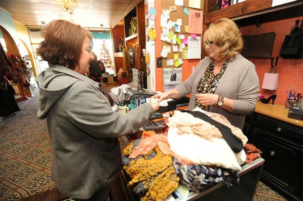 Donna Akers (right), owner of ...