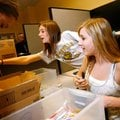 Ashton Tate, center, and Caroline Holler,