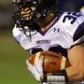 Cole Harris, Fayetteville, runs for a first half touchdown Friday in the Class 7A playoff game again...