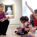 Laura Marie Rivera, museum educator, leads a discussion with Bellview Elementary School fifth-grader...
