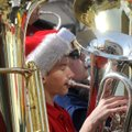 "Andrew Van Slooten of Bentonville, and Jakob Molle of Centerton play during the ""Merry Tuba Christma..."