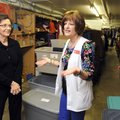 Kathy Launder, right, nursing coordinator for Springdale School District, and Beverly Charleton, soc...