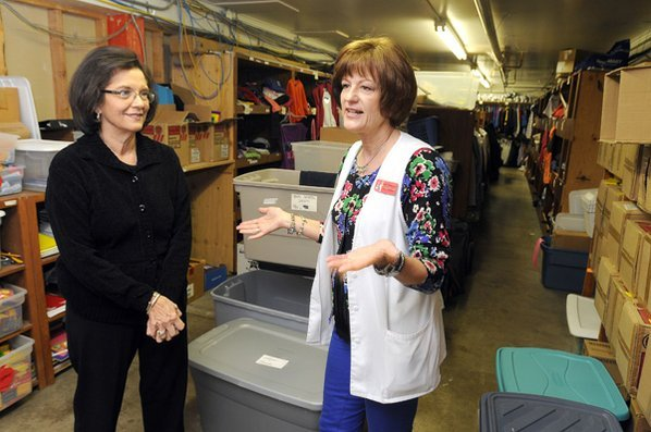 Kathy Launder, right, nursing coordinator ...