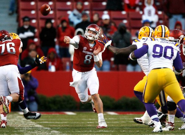 Arkansas quarterback Tyler Wilson will ...