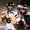 STAFF PHOTO JASON IVESTER -- Fayetteville senior quarterback Austin Allen drops back to pass against...