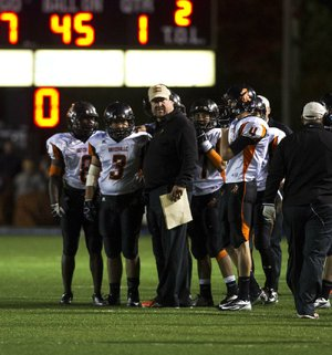 Batesville Coach Dave King, talking with his players during a 40-21 victory over Pulaski Academy in Little Rock on Friday, said he felt this would be the year for the Pioneers, but the loss of four senior starters during the offseason presented a bigger challenge. The Pioneers met it, defeating Hot Springs Lakeside and Greenbrier in the Class 5A playoffs to advance to Friday's title game, where they will meet Camden Fairview at War Memorial Stadium in Little Rock.