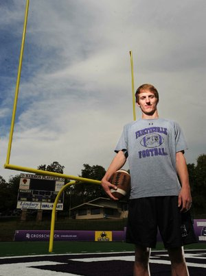 Fayetteville kicker Ryan Starr has made 11 of 12 field-goal attempts this season, including a 52-yarder against Bentonville on Nov. 2. He also has placed more than 20 kickoffs in the end zone for touchbacks.