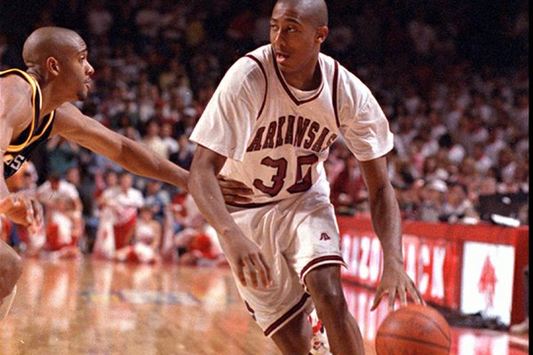 Scotty Thurman helped Arkansas to an 13-2 record in NCAA Tournament games.