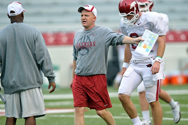 Paul Petrino, who just completed his third year as Arkansas' offensive coordinator, interviewed earlier this week for the head coaching vacancy at Idaho.