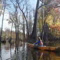 Kirsten Bartlow of Little Rock explores Bayou De View on a beautiful fall day.