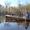 Debbie Doss of Conway, left, and Kirsten Bartlow of Little Rock, explore Bayou De View on Nov. 9.