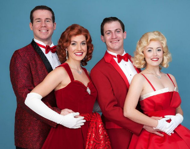 shane-donovan-from-left-as-bob-jennifer-sheehan-as-betty-case-dillard-as-phil-and-sarah-agar-as-judy-star-in-the-arkansas-repertory-theatres-production-of-white-christmas