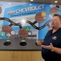 Gan Nunnally, general manager of Nunnally Chevrolet, talks Wednesday about a board showing some of t...