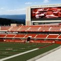 An artist's rendering shows the north end zone of Donald W. Reynolds Razorback Stadium following an ...