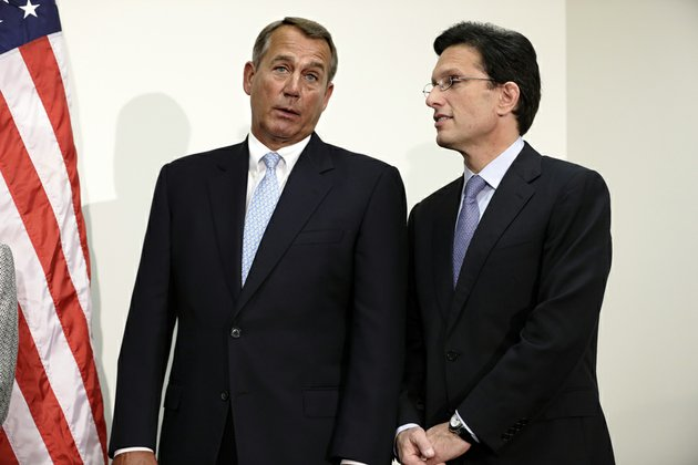 house-speaker-john-boehner-ohio-left-talks-with-house-majority-leader-eric-cantor-of-virginia-on-capitol-hill-in-washington-on-wednesday-nov-28-2012-during-a-news-conference-after-a-closed-strategy-session