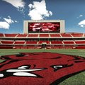 An artist's rendering shows potential expansion to the north end zone at Donald. W. Reynolds Razorba...