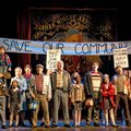 "A large cast responds to the dreams of a little boy during the musical ""Billy Elliot,"" based on a mo..."
