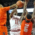 NWA Media/MICHAEL WOODS --11/30/2012-- Arkansas guard BJ Young is fouled by Syracuse defender DaJuan...
