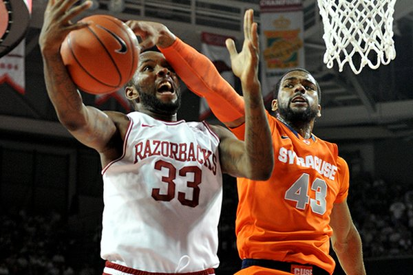 NWA Media/MICHAEL WOODS -- 11/30/2012 -- Syracuse forward James Southerland (43) scored a career-high 35 points Friday at Bud Walton Arena in Fayetteville.
