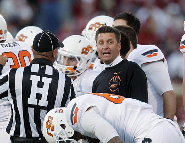 Oklahoma State coach Mike Gundy ...