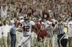 Alabama running back Eddie Lacy (42) runs to the end zone for a touchdown against Georgia during the first half of the Southeastern Conference championship NCAA college football game, Saturday, Dec. 1, 2012, in Atlanta. (AP Photo/Jamie Martin)