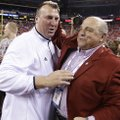 Bret Bielema (left) was named Arkansas' head coach on Tuesday.