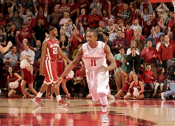 nwa-mediaanthony-reyes-arkansas-sophomore-guard-bj-young-charges-upcourt-after-scoring-the-go-ahead-basket-against-oklahoma-in-the-second-half-tuesday-dec-4-2012-at-bud-walton-arena-in-fayetteville-the-razorbacks-won-81-78