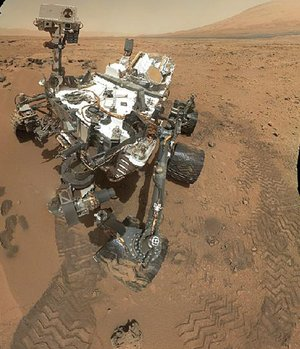 So far, there is no definitive evidence that Mars has the chemical ingredients to support life, according to test results released by NASA on Monday. This image released by NASA shows the work site of NASA's rover Curiosity.