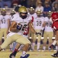 Pulaski Academy graduate Hunter Henry turns upfield during first-half action against Jacksonville on...