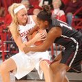 NWA Media / ANDY SHUPE -- Arkansas sophomore guard Calli Berna, left, and Texas Southern sophomore g...