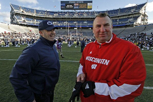 Bret Bielema (right) will make ...