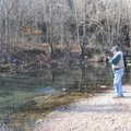 Woolly buggers in brown or black worked well for catching trout on Nov. 16.