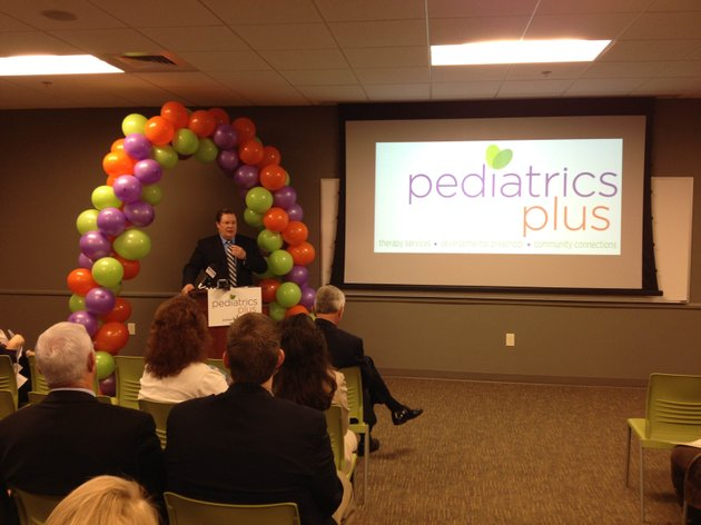 little-rock-mayor-mark-stodola-speaks-at-the-grand-opening-of-pediatrics-plus-thursday-in-west-little-rock