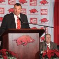 Former Wisconsin Coach Bret Bielema, who led the Badgers to a Big Ten championship earlier this mont...