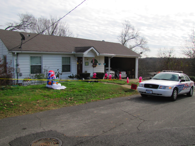 an-arkadelphia-police-department-unit-stands-guard-monday-at-a-house-where-a-man-and-his-two-young-stepdaughters-were-slain-thursday-night