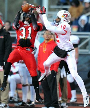 Defensive back T.J. Lee III (31) and Eastern Washington host Sam Houston State on Saturday in the Football Championship Subdivision semifinals at Roos Field in Cheney, Wash.